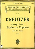 Okładka: Kreutzer Rodolphe, 42 Studies or Caprices
