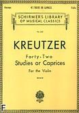 Okładka: Kreutzer Rodolphe, 42 Studies or Caprices