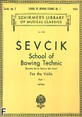 Okładka: Sevcik Otakar, School of Bowing Technic for the Violin, Op. 2 Book 1