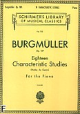 Okładka: Burgmüller Friedrich, 18 Characteristic Studies, op. 109