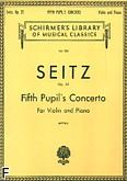 Okładka: Seitz Friedrich, Koncert uczniowski nr 5 D-dur, op. 22 (Piano / Violin)