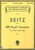 Ok�adka: Seitz Friedrich, Koncert uczniowski nr 5 D-dur, op. 22 (Piano / Violin)