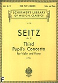 Ok�adka: Seitz Friedrich, Koncert uczniowski nr 3 g-moll, op. 12 (Piano / Violin)