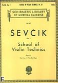 Ok�adka: Sevcik Otakar, Szko�a techniki skrzypcowej, op. 1 z. 4 (dwud�wi�ki, fla�olety)