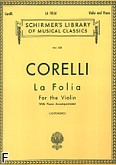 Okładka: Corelli Arcangelo, La Folia Variations (Piano / Violin)