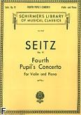 Okładka: Seitz Friedrich, Koncert uczniowski nr 4 D-dur, op. 15 na skrzypce i fortepian