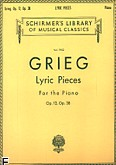 Okładka: Grieg Edward, Lyric Pieces - Volume 1: Op. 12, 38