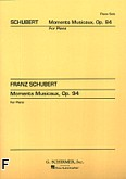 Okładka: Schubert Franz, 4 Moments Musicaux, Op. 94 for Piano
