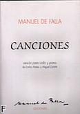 Okładka: Falla Manuel de, Canciones para violín y piano
