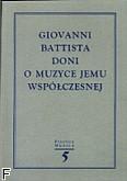Okładka: , Giovanni Battiesta Doni. Omuzyce jemu współczesnej. (Practica Musica 5a)