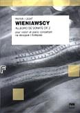 Okładka: Wieniawski Henryk, Wieniawski Józef, Allegro de sonate op. 2 na skrzypce i fortepian