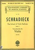 Okładka: Schradieck Henry, Szkoła techniki skrzypcowej - transkrypcja na altówkę, op. 1 z. 1