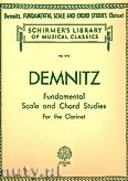 Ok�adka: Demnitz Friedrich, Fundamental Scale And Chord Studies (Clarinet)