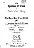 Ok�adka: Uber David, A Christmas Festival Of Carols, op. 78 (partytura)