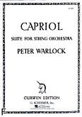 Ok�adka: Warlock Peter, Capriol Suite (Score)