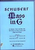 Okładka: Schubert Franz, Msza G-dur