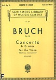 Ok�adka: Bruch Max, Concerto In G minor For the Violin, Op. 26