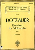 Okładka: Dotzauer Justus Johann Friedrich, Exercises for Violoncello Bk. 1