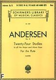 Okładka: Andersen Joachim, 24 etiudy, op. 21