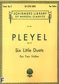 Okładka: Pleyel Ignaz Joseph, 6 łatwych duetów, op. 8
