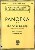 Okładka: Panofka Henri, Art Of Singing (24 Vocalises), op.81