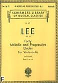 Okładka: Lee Sebastian, 40 melodycznych etiud ułożonych progresywnie, op. 31 z. 1 (Cello)