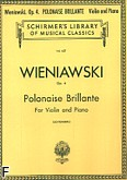 Okładka: Wieniawski Henryk, Polonaise Brillante, Op. 4, in D Major