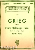 Okładka: Grieg Edward, From Holberg's Time