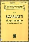 Ok�adka: Scarlatti Antonio, 3 sonaty na kontrabas i fortepian