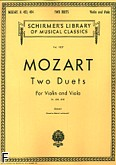 Okładka: Mozart Wolfgang Amadeusz, Two Duets For Violin and Viola K.423, K.424