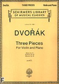 Ok�adka: Dvo��k Antonin, 3 Violin Pieces