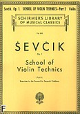 Okładka: Sevcik Otakar, School of Violin Technics, Op. 1, Part 2