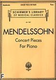 Ok�adka: Mendelssohn-Bartholdy Feliks, Utwory koncertowe na fortepian