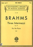 Ok�adka: Brahms Johannes, 3 Intermezzi, op. 117