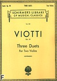 Ok�adka: Viotti Giovanni Battista, Three Duets for Two Violins, Op. 29