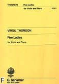 Ok�adka: Thomson Virgil, 5 Ladies for Violin and Piano