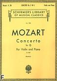 Okładka: Mozart Wolfgang Amadeusz, Koncert skrzypcowy nr 3, G-dur, K.216