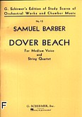 Okładka: Barber Samuel, Arnold Mattew, Dover Beach for medium Voice and string quartet (partytura)