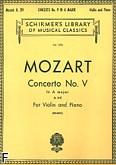 Ok�adka: Mozart Wolfgang Amadeusz, Koncert skrzypcowy nr 5, A-dur, K.219