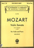 Okładka: Mozart Wolfgang Amadeusz, Sonata A-dur, K.526