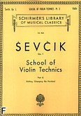 Ok�adka: Sevcik Otakar, School of Violin Technics, Op. 1 Part 3 (Changing the Position)