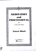 Okładka: Bloch Ernest, Meditation And Processional (Piano / Viola)