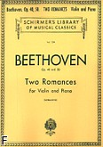 Ok�adka: Beethoven Ludwig van, Two Romances, Op. 40 and 50