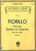 Okładka: Fiorillo Frederico, 36 etiud i kaprysów (Violin)