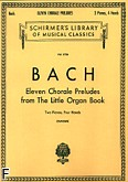 Ok�adka: Bach Johann Sebastian, Eleven Chorale Preludes from The Little Organ Book