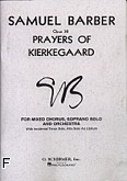 Ok�adka: Barber Samuel, Prayers Of Kierkegaard, op. 30