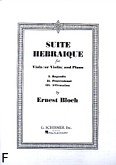 Okładka: Bloch Ernest, Suite Hebraique for Viola (or Violin) and Piano