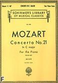 Okładka: Mozart Wolfgang Amadeusz, Koncert fortepianowy nr 21, C-dur, K.467