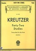 Okładka: Kreutzer Rodolphe, 42 etiudy na altówkę
