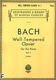 Okładka: Bach Johann Sebastian, Das Wohltemperierte Klavier z. 2